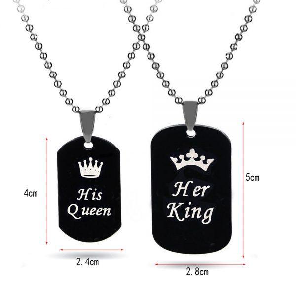 Papuošalų rinkinys Her King & His Queen