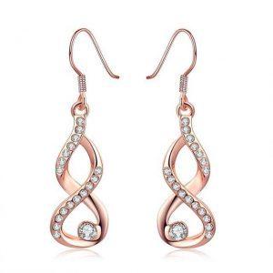 Rožinio aukso išskirtiniai auskarai