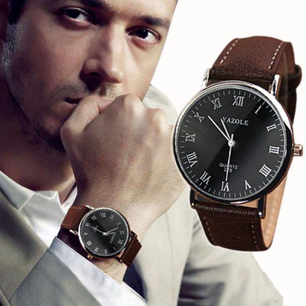 Klasikinio dizaino aukštos kokybės vyriškas laikrodis