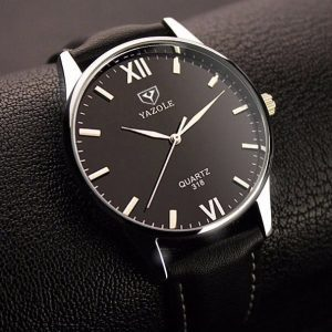 Kvarcinis kasdieninio stiliaus vyriškas laikrodis su mėlyno atspindžio efektu