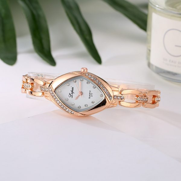 Rožinio aukso spalvos, moteriškas laikrodis