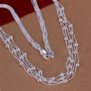 Įmantraus dizaino, sidabrinis kaklo papuošalas
