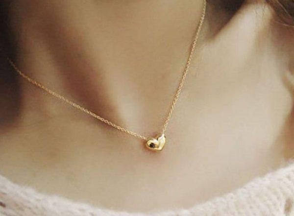 Romantiškos  širdelės formos kaklo papuošalas pakabutis