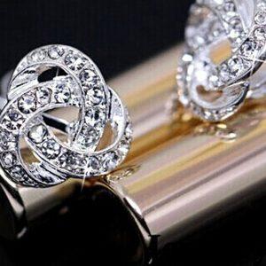 Žėrintys sidabriniai auskarai