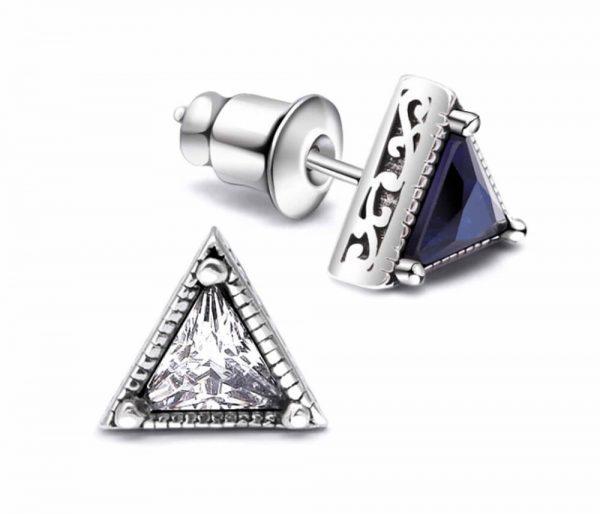 """Sidabriniai auskarai """"Mėlynasis trikampis"""""""