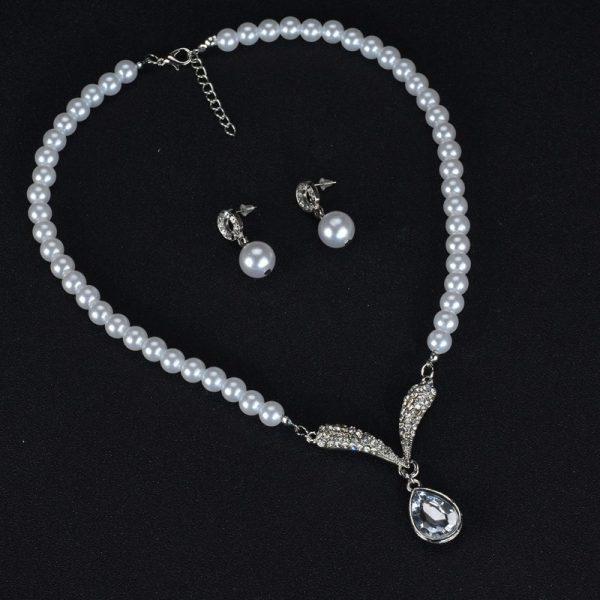 """Perlų imitacijos papuošalų rinkinys """"Elegantiška dama"""""""