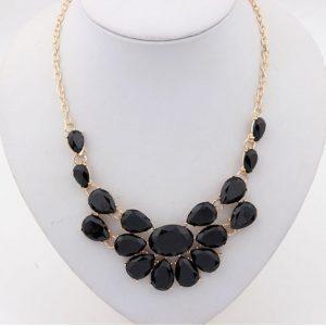 Puošnus akrilo perlų kaklo papuošalas