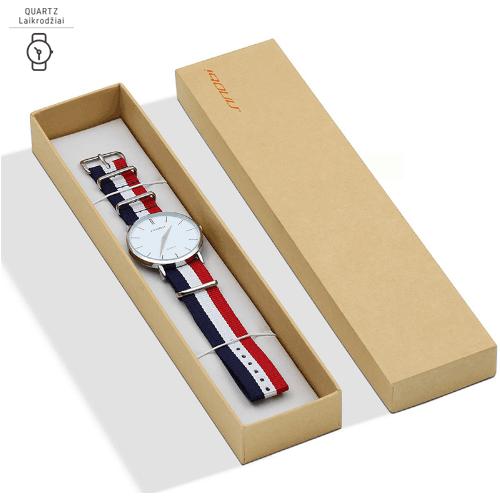 Laikrodis su medžiagine apyranke