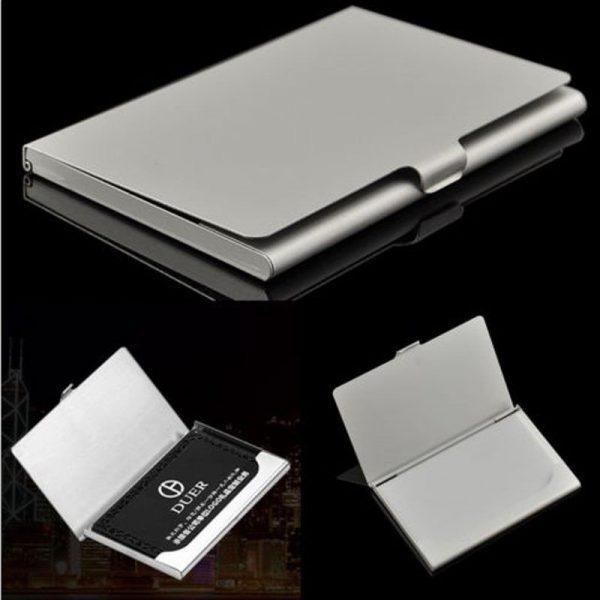 Metalinis kortelių dėklas