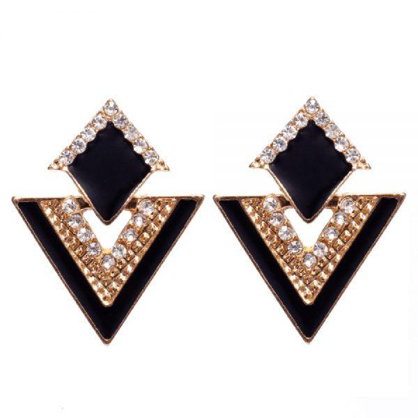 Retro stiliaus trikampių formos auskarai