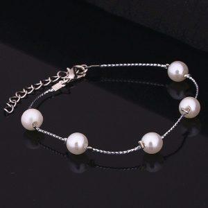 Apyrankė su perlų imitacija