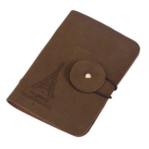 """Rudas kortelių dėklas ,,Paryžius"""""""