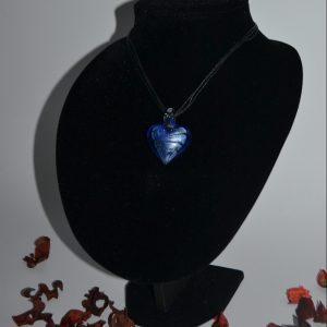 """Kaklo papuošalas ,,Mėlynoji širdis"""""""