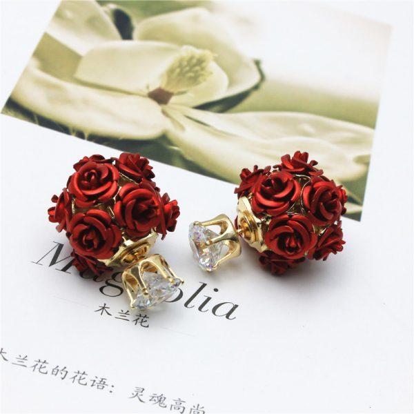 "Asimetriški auskarai ,,Rožytės"""