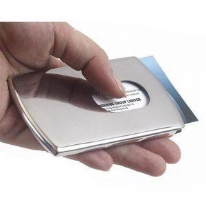 Aliumininis kortelių dėklas, pilkos spalvos