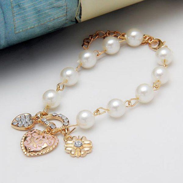 Daili perlų imitacijos apyrankė