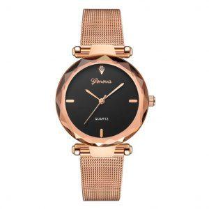 """Prabangios išvaizdos, moteriškas """"Geneva"""" laikrodis"""