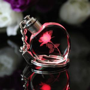 """Raktų pakabukas """"Krištolinė rožė"""""""