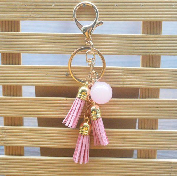 """Moteriškas raktų pakabukas ,,Rožinė"""""""