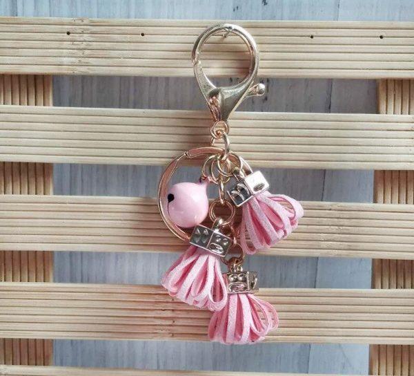 """Moteriškas raktų pakabukas ,,Rožinė svaja"""""""