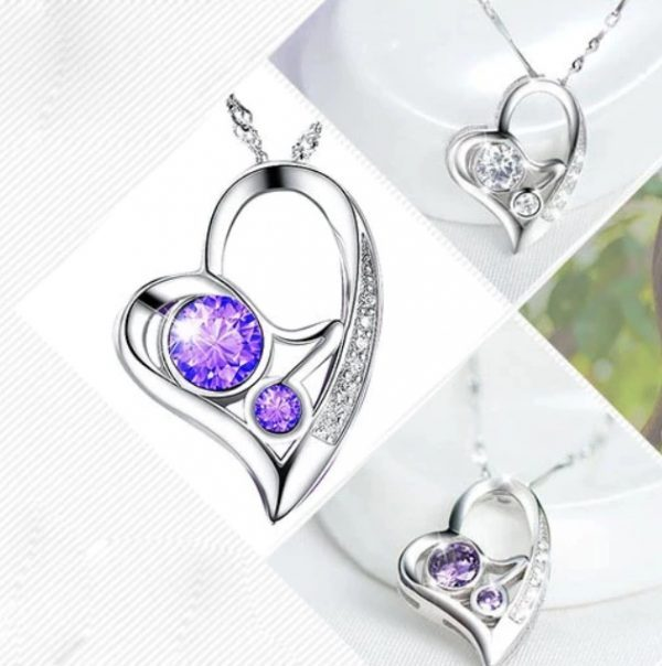"""Sidabrinis kaklo papuošalas ,,Purple Heart"""""""