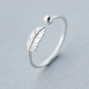 """Sidabrinis žiedas ,,Lapelis"""""""